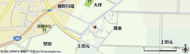 山形県酒田市上興野堰東13周辺の地図