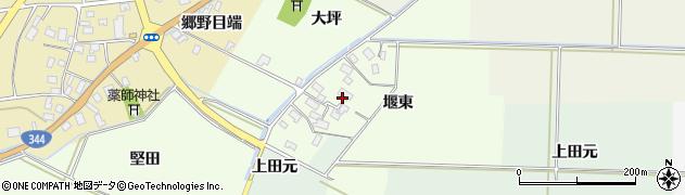 山形県酒田市上興野(堰東)周辺の地図