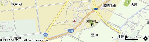 山形県酒田市上野曽根下中割50周辺の地図