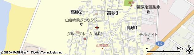 山形県酒田市高砂周辺の地図