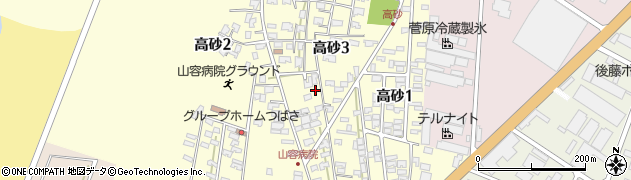 山形県酒田市高砂3丁目周辺の地図
