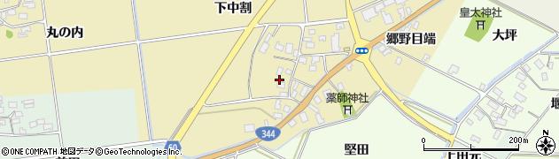 山形県酒田市上野曽根下中割22周辺の地図