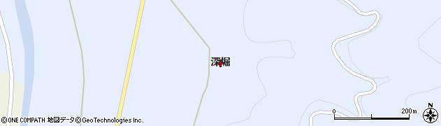 岩手県一関市東山町松川(深堀)周辺の地図