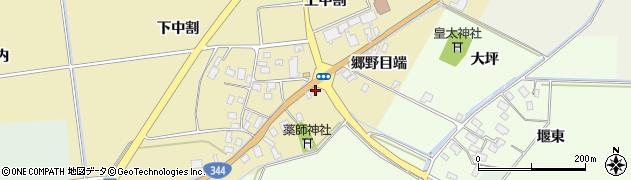 山形県酒田市上野曽根郷野目端53周辺の地図