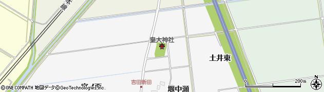 山形県酒田市吉田新田堰中瀬35周辺の地図