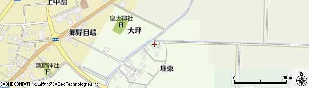 山形県酒田市上興野堰東40周辺の地図