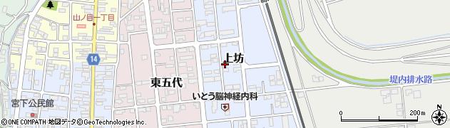 岩手県一関市上坊周辺の地図