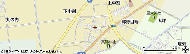 山形県酒田市上野曽根上中割122周辺の地図