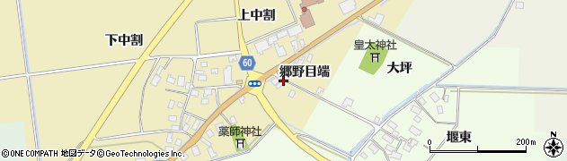 山形県酒田市上野曽根郷野目端33周辺の地図