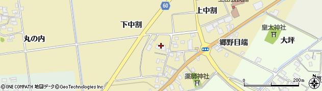 山形県酒田市上野曽根下中割13周辺の地図