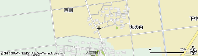 山形県酒田市上野曽根丸の内43周辺の地図