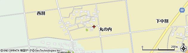 山形県酒田市上野曽根丸の内周辺の地図