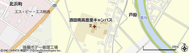 山形県酒田市豊里下西割38周辺の地図