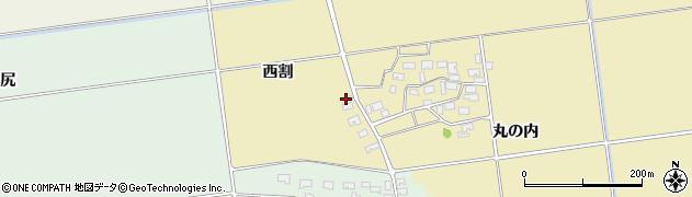 山形県酒田市上野曽根西割13周辺の地図