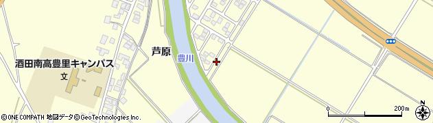 山形県酒田市豊里芦原90周辺の地図