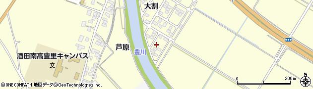山形県酒田市豊里芦原周辺の地図