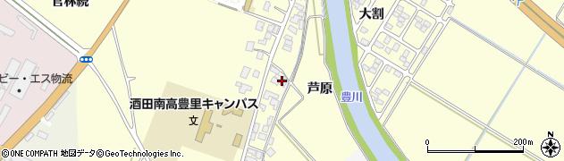 山形県酒田市豊里芦原50周辺の地図