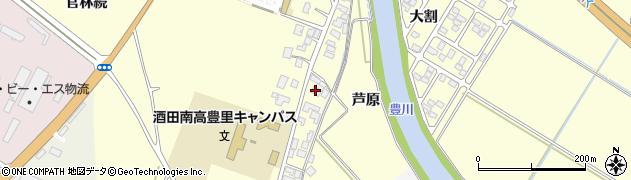 山形県酒田市豊里芦原51周辺の地図