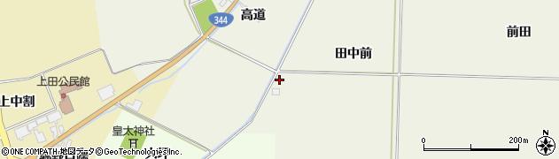 山形県酒田市安田田中前周辺の地図