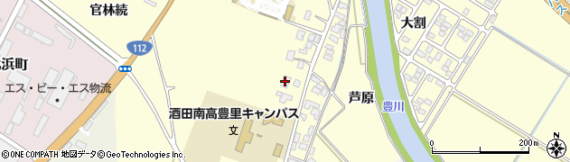 山形県酒田市豊里下西割31周辺の地図