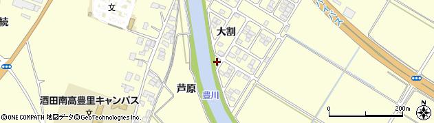 山形県酒田市豊里芦原87周辺の地図