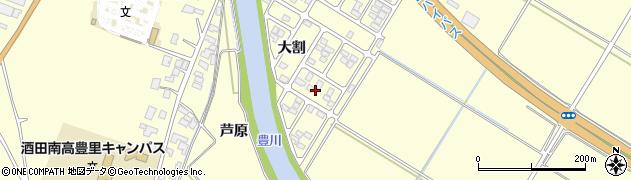 山形県酒田市豊里大割24周辺の地図