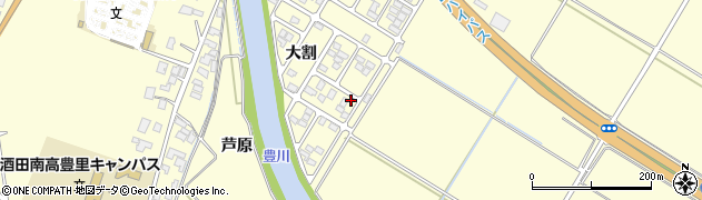 山形県酒田市豊里大割23周辺の地図