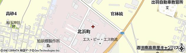 山形県酒田市北浜町4周辺の地図