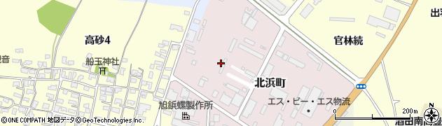 山形県酒田市北浜町周辺の地図