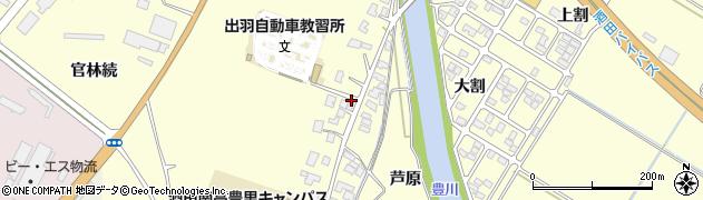 山形県酒田市豊里下西割23周辺の地図