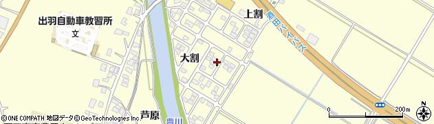 山形県酒田市豊里大割周辺の地図