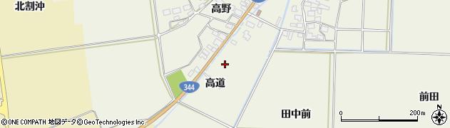 山形県酒田市安田高道22周辺の地図