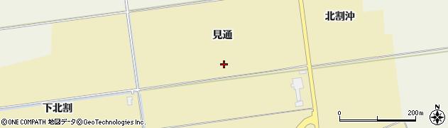 山形県酒田市上野曽根見通周辺の地図