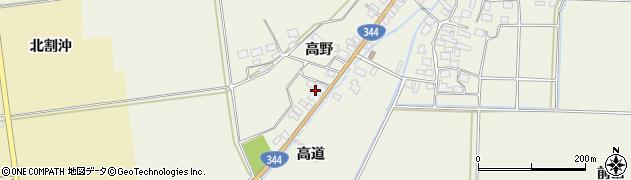 山形県酒田市安田高野周辺の地図