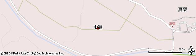 岩手県一関市厳美町中道周辺の地図