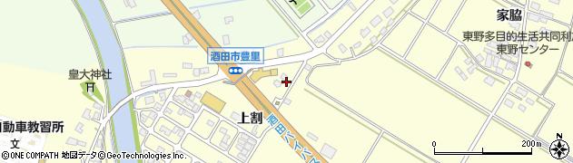 山形県酒田市豊里上割3周辺の地図