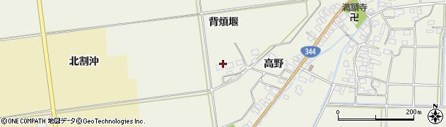 山形県酒田市安田背煩堰55周辺の地図