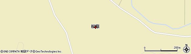 岩手県一関市千厩町奥玉松原周辺の地図
