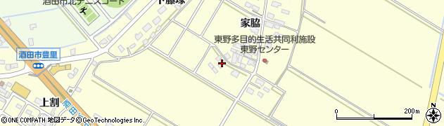 山形県酒田市豊里家脇69周辺の地図