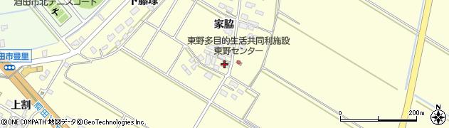 山形県酒田市豊里家脇48周辺の地図