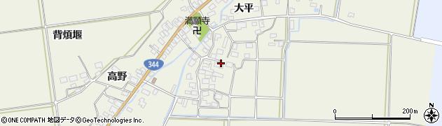 山形県酒田市安田大平71周辺の地図