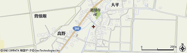 山形県酒田市安田大平75周辺の地図