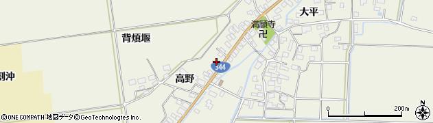 山形県酒田市安田高野33周辺の地図