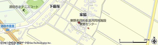 山形県酒田市豊里家脇41周辺の地図