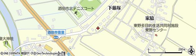 山形県酒田市豊里下藤塚98周辺の地図