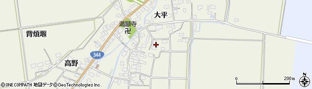 山形県酒田市安田大平70周辺の地図