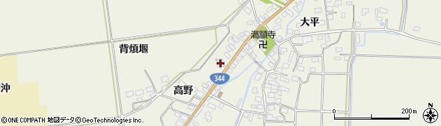 山形県酒田市安田高野26周辺の地図