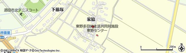 山形県酒田市豊里家脇25周辺の地図