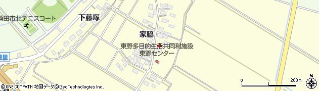 山形県酒田市豊里家脇21周辺の地図