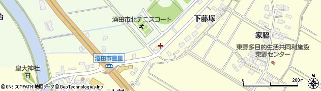 山形県酒田市豊里下藤塚182周辺の地図